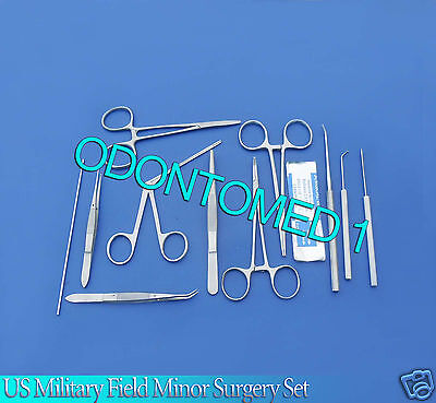 43 Pc Us Military Field Minor Surgery Kit Surgical Instrumentsodm-614