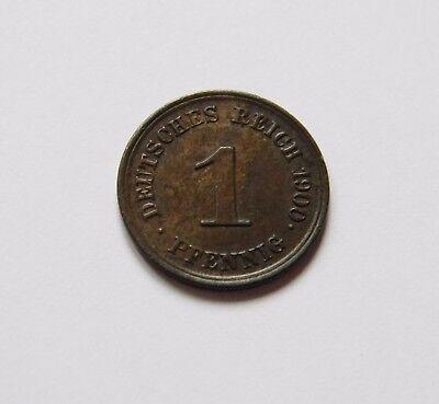 KAISERREICH: 1 Pfennig 1900 E, J. 10, prägefrisch/unc. !!!