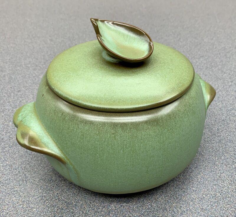 FRANKOMA pottery PRAIRIE GREEN 2-Quart Round Covered Casserole & Lid #4V