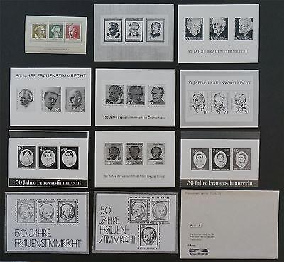 BUND FOTO-ESSAY`s BLOCK 5 FRAUENWAHLRECHT 1969 10 ENTWÜRFE PHOTO-ESSAY PROOF e54