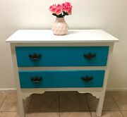 Beautiful two-toned shabby drawers/dresser Southport Gold Coast City Preview
