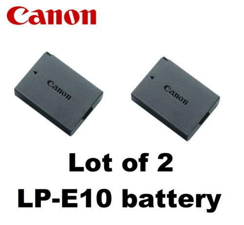 2X New Original OEM CANON EOS Rebel T3 T5 T6 1100D 1200D 1300D Battery LP-E10