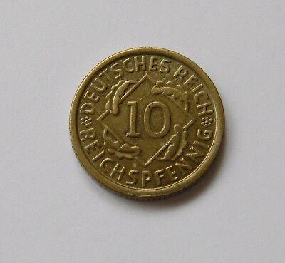 WEIMAR: 10 Reichspfennig 1924 G, J. 317, prägefrisch/unc. !!!  II.