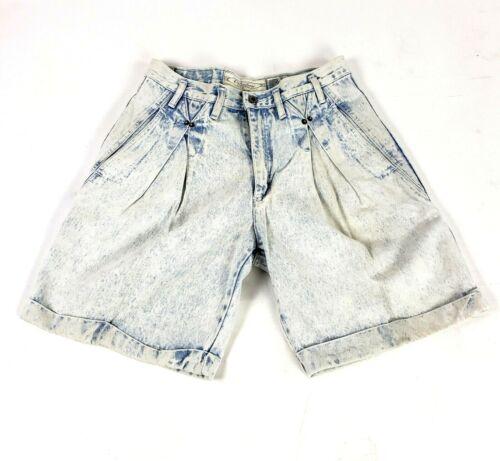 VTG Unionbay Womens Shorts Jean High Rise Size 32 Pleated Cuffed Mom 80