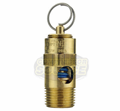 135 Psi 38 Male Npt Air Compressor Safety Relief Pop Off Valve Solid Brass New
