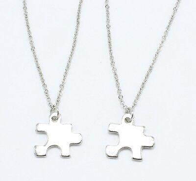 New BFF Best Friend Puzzle Piece Necklace Set nwt #N0059 (Puzzle Piece Necklace Set)