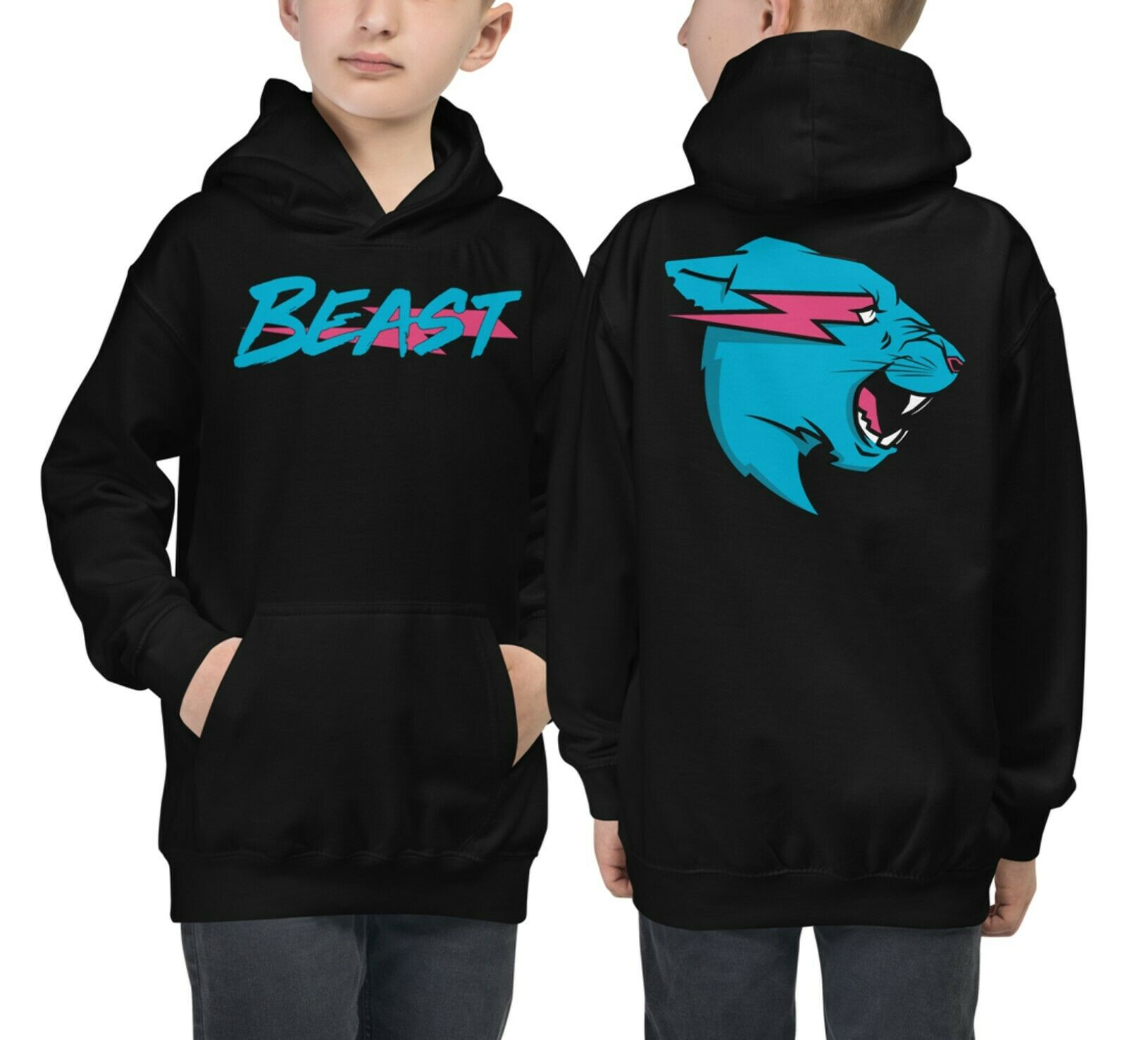 Youth MrBeast hoodie Pullover Kids Mr Beast Logo Hoodie MrBeast Youtube Merch