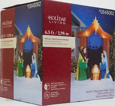 Christmas Gemmy Holiday Living 6.5 ft Nativity Scene Airblown Inflatable NIB (Nativity Inflatable)