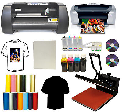 15x15 Heat Press Printer Ciss Ink 14 Laser Point Vinyl Cutter Plotter Startup