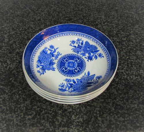 4 Copeland Spode Fitzhugh Fine Stone Blue Berry Bowls, Cat Rescue