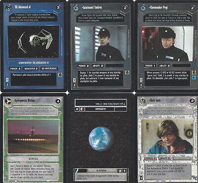 6 cards Star WARS Customizable Card Game CCG - genau die auf dem Scan 7