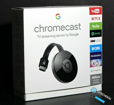 Google Chromecast Streaming Media Player  GA3A00093-A14-Z01 2nd Generation @NEW@