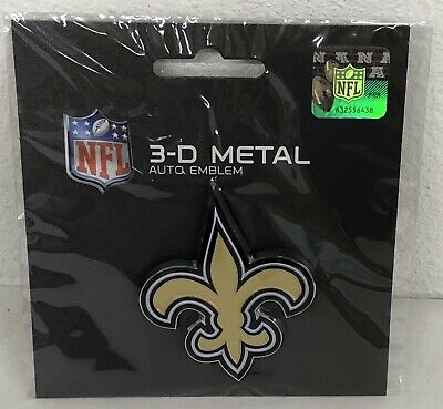 NFL New Orleans Saints 3-D Metal Auto Emblem Officially Licensed Football Decal  Nfl Football Emblem