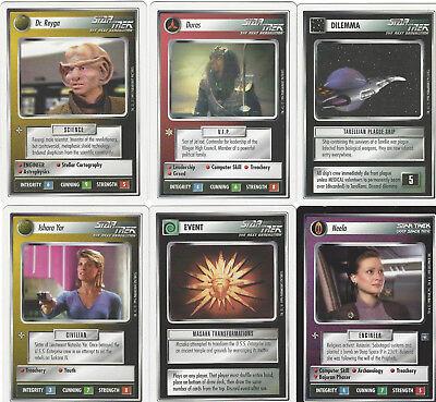 6 cards Star Trek Customizable Card Game CCG - genau die auf dem Scan 3