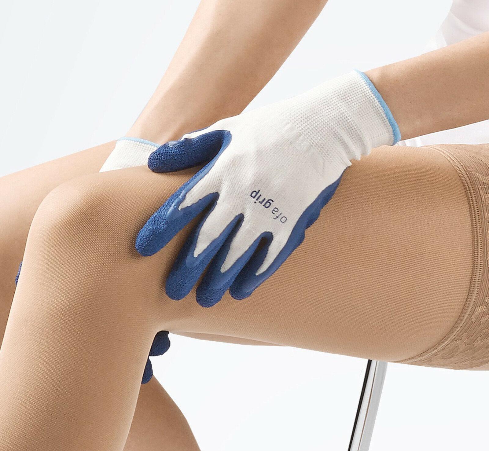 Ofa Grip Handschuhe zum Anziehen von Kompressionsstrümpfen Anziehhilfe