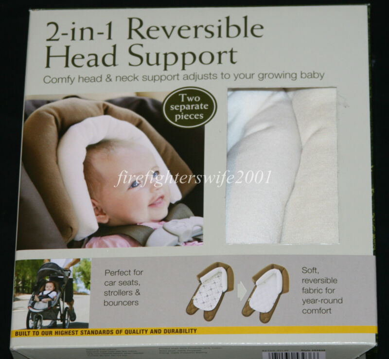 Eddie Bauer 2-in-1 reversible head support - 2 pieces tan ivory new in pkg