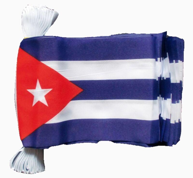 CUBA 3 METRE BUNTING 10 FLAGS flag 3M HAVANA CUBAN CARIBBEAN