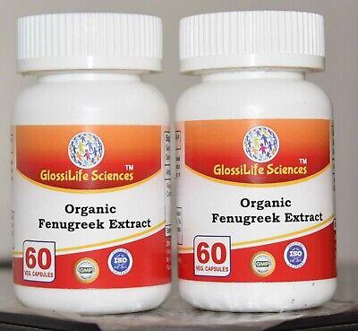 Organic Fenugreek Extract Capsule 50% Saponins  Pure & High