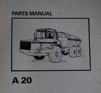 Volvo A20 1987 Hauler Dumper Earthmover Parts Manual | Other