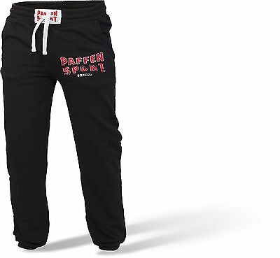 Paffen Sport- LOGO Athletic Pant schwarz/grau. S-XXL. Baumwolle/Polyester. Boxen