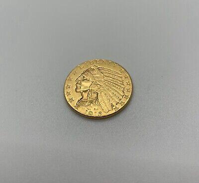1915 $5 Dollar Gold Half Eagle Indian Head, Choice UNC Indian Head Half Eagle