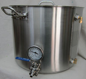10 Gallon Pro Quality All Stainless Steel Hot Liquor Tank / Brew Kettle