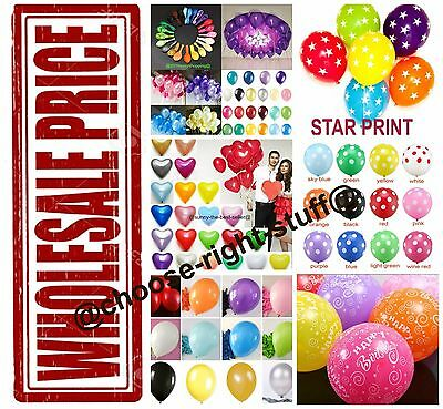 WHOLESALE BALLOONS 100-5000 Latex BULK PRICE JOBLOT Quality Any Occasion BALLONS](Bulk Latex Balloons)
