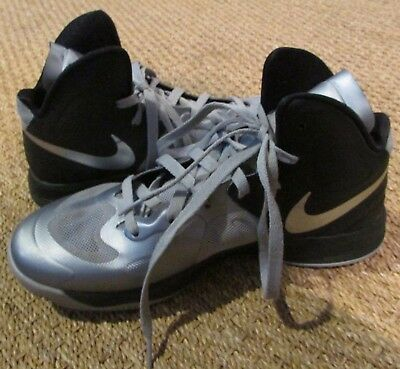 best sneakers e1ef5 a90fe Nike Hyperfuse (BLK GREY SILVER) 525022-003 - Men s Basketball Shoes Size 8