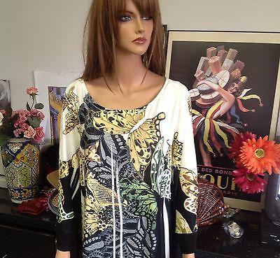 Cato Woman Tunic  Beads Butterfly  18 20W Designer Fashion Plus Size