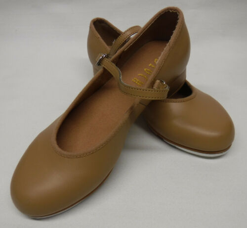 Bloch Techno Tap Dance Shoes Merry Jane Girls size 1M Tan Synthetic Leather NICE