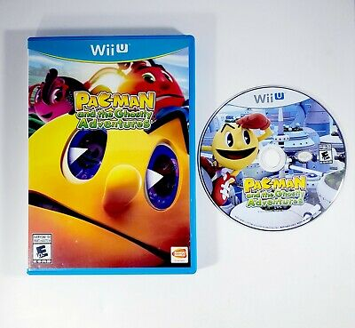 Pac-Man and the Ghostly Adventures (Nintendo Wii U, 2013) Game Disc & Case