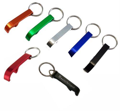 Aluminium Flaschenöffner Kapselheber Schlüsselanhänger Farben mit Wunschgravur