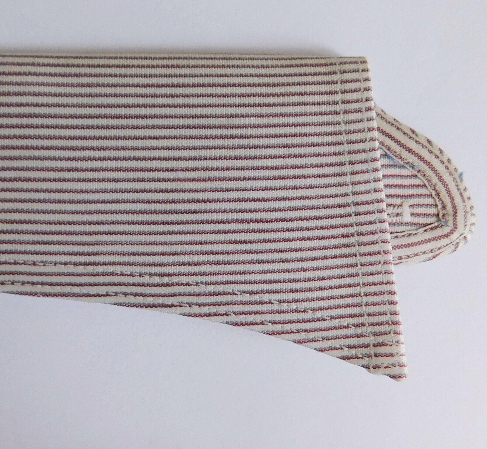 Radiac Rex striped shirt collar size 18 semi-stiff UNUSED vintage detachable