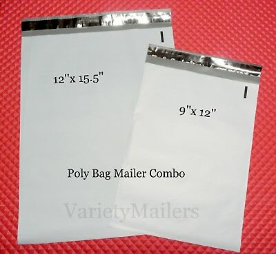 100 Poly Bag Shipping Envelope Combo 50 Ea Of 2 Sizes Self-sealing Mailers