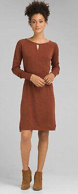 NEW prAna CHAI HEATHER SONATINA KEYHOLE SWEATER DRESS SIZE MEDIUM