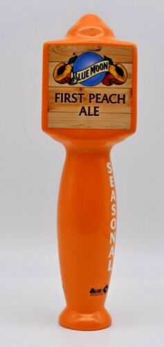 """Blue Moon First Peach Ale Seasonal Beer Tap Handle 10"""" Tall - Excellent"""