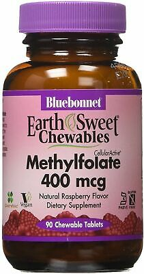 Earth Sweet Chewables Cellular Active Methylfolate, 90 tablet 400 mcg 400 Mcg 90 Tablets