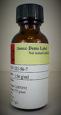 Ferric Chloride 42 Degree Baume Solution 30 Ml Amber Glass Bottle