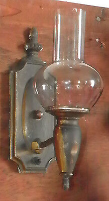 ANTIQUE SCONCE WITH OIL SHADE 5158