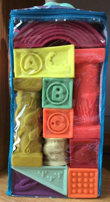 B. Baby One Squeeze Two Squeeze Soft Building Blocks Set NEW