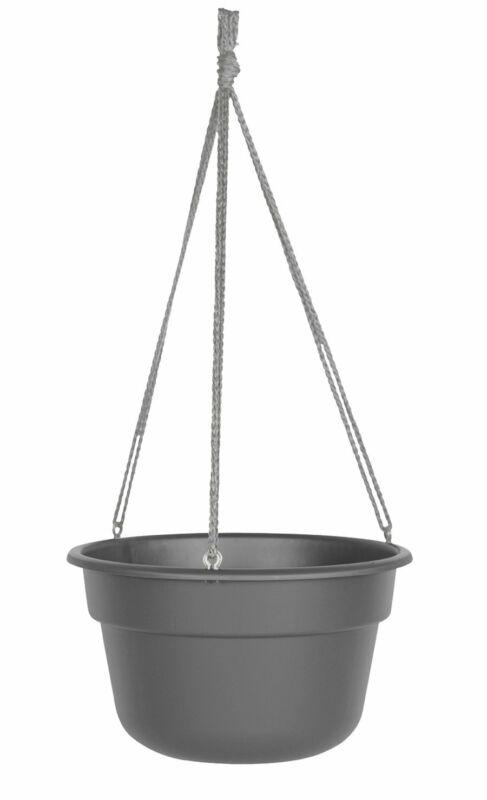 Bloem Dura Cotta Hanging Basket Planter Charcoal 12 In