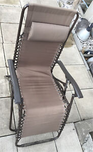 2x chaise patio pliante / 2x foldable patio chairs