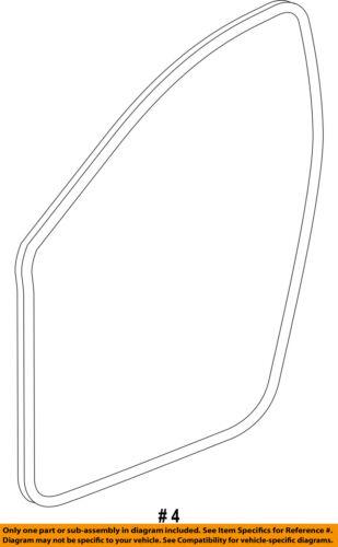 CHRYSLER OEM 15-16 200 Front Door-Weatherstrip Seal on Body 68145007AB
