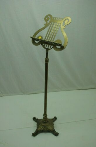Adjustable Brass Lyre Sheet Music Stand