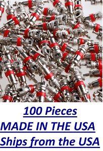 100 ea VALVE STEM CORE TIRE PRESSURE SENSOR CORES TPMS Universal bulk lot VA-01
