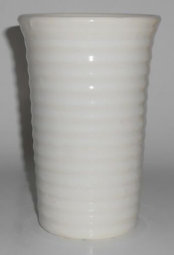 Bauer Pottery Ring Ware Gloss White 6-1/4