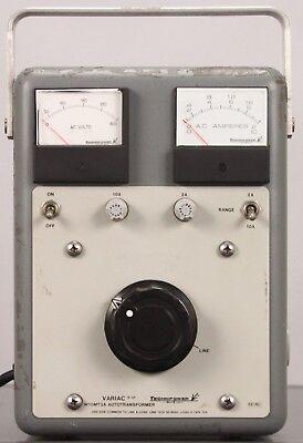 Technipower Variac W10m3a Autotransformer - Line 120v 50-60hz Load 0-140v 10a