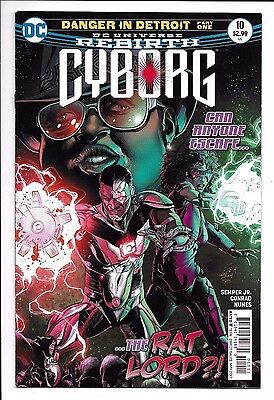 Dc Comics  Cyborg  Issue 10  Direct Sales  2017  9 6  Near Mint Condition