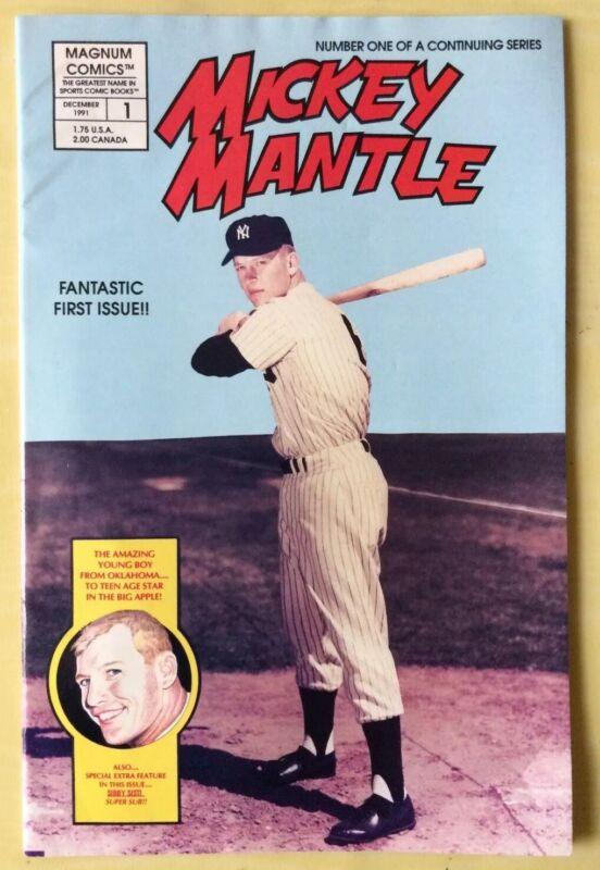 1991 Magnum Comics Mickey Mantle Baseball Comic 1 Yankees Hall Of Fame Mid Grade