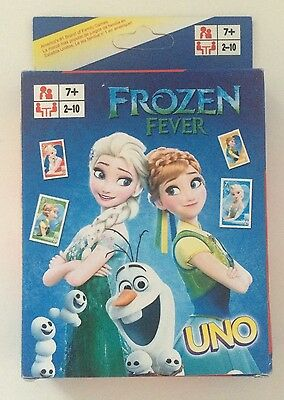 Uno Card Game Frozen Fever Collection Cards Family Travel Aus Stock